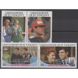 Saint-Vincent (Iles Grenadines) - 1986 - No 475/478 - Royauté - Principauté