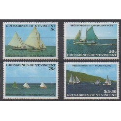 Saint Vincent (Grenadines) - 1988 - Nb 538/541 - Boats