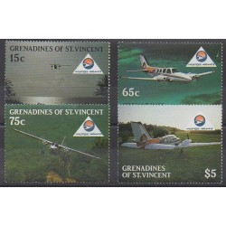 Saint Vincent (Grenadines) - 1988 - Nb 542/545 - Planes - Tourism