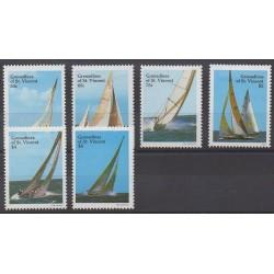 Saint-Vincent (Iles Grenadines) - 1988 - No 532/537 - Navigation - Sports divers