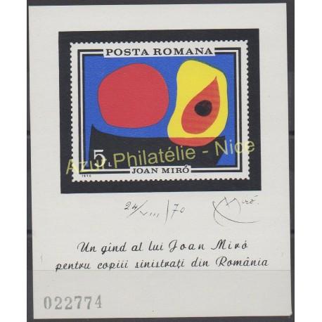 Roumanie - 1970 - No BF 81 - Peinture