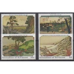 Saint-Vincent (Iles Grenadines) - 1989 - No 578/581 - Peinture