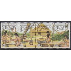 Saint-Vincent (Iles Grenadines) - 1989 - No 582/585 - Christophe Colomb