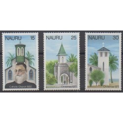 Nauru - 1977 - Nb 153/155 - Christmas - Churches