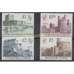 Timbres - Thème monuments - Grande-Bretagne - 1988 - No 1340/1343