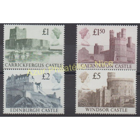 Stamps - Theme various monuments - Great Britain - 1988 - Nb 1340/1343