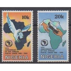 Nigeria - 1990 - Nb 551/552 - Postal Service