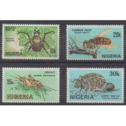Nigeria - 1986 - Nb 480/483 - Insects