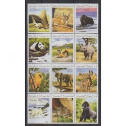 Marshall - 2009 - Nb 2427/2438 - Mamals - Endangered species - WWF