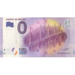 Billet souvenir - 12 - Viaduc de Millau - 2016-1 - No 301