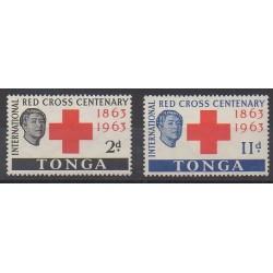Tonga - 1963 - No 134/135 - Santé ou Croix-Rouge