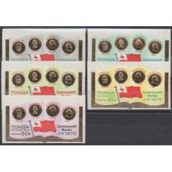 Tonga - 1970 - No 243/247 - Monnaies, billets ou médailles