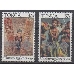 Tonga - 1986 - No 650/651 - Scoutisme - Noël