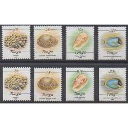 Tonga - 1990 - Nb 786/789 - 786a/789a - Sea life