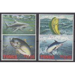 Tonga - 1994 - Nb 968/971 - Sea life