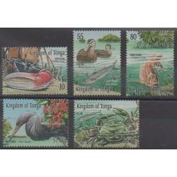 Tonga - 2001 - Nb 1180/1184 - Sea life