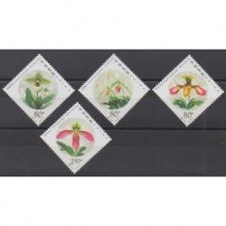 Chine - 2001 - No 3928/3931 - Orchidées