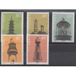 China - 2002 - Nb 4000/4004 - Lighthouses