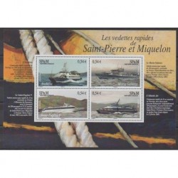 Saint-Pierre and Miquelon - Blocks and sheets - 2006 - Nb BF11 - Boats