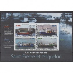 Saint-Pierre and Miquelon - Blocks and sheets - 2004 - Nb BF10 - Boats