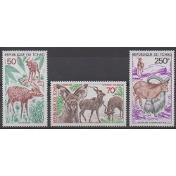 Chad - 1985 - Nb 501/503 - Mamals - Endangered species - WWF