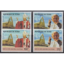 Chad - 1990 - Nb 516/519 - Pope