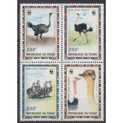 Tchad - 1996 - No BC649/BC652 - Oiseaux - Espèces menacées - WWF
