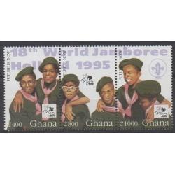 Ghana - 1995 - No 1791/1793 - Scoutisme