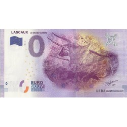 Euro banknote memory - 24 - Lascaux - Le grand taureau - 2016-2