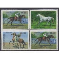Ouzbékistan - 1999 - No 143/145 - Chevaux