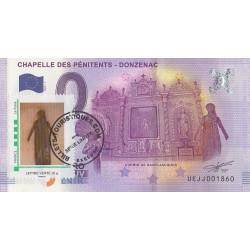 Billet souvenir - 19 - Chapelle des Pénitents - Timbre et tampon - 2016-1