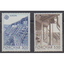 Faroe (Islands) - 1987 - Nb 143/144 - Architecture - Europa