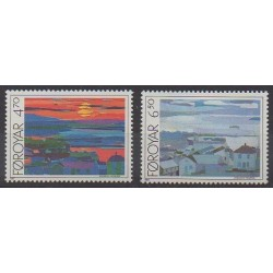 Faroe (Islands) - 1987 - Nb 154/155 - Paintings