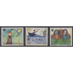Faroe (Islands) - 1979 - Nb 39/41 - Children's drawings