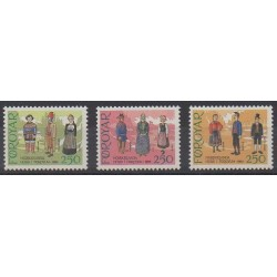Faroe (Islands) - 1983 - Nb 84/86 - Costumes - Uniforms - Fashion