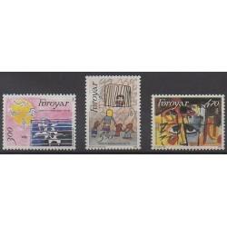 Féroé (Iles) - 1986 - No 130/132 - Droits de l'Homme