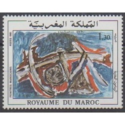Maroc - 1981 - No 879 - Peinture