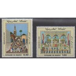 Maroc - 1979 - No 825/826 - Peinture