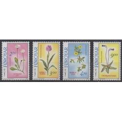 Faroe (Islands) - 1988 - Nb 156/159 - Flowers