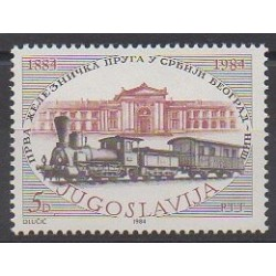 Yugoslavia - 1984 - Nb 1927 - Trains