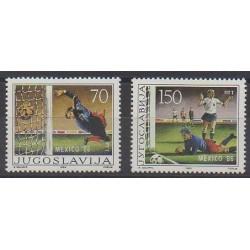 Yugoslavia - 1986 - Nb 2030/2031 - Soccer World Cup