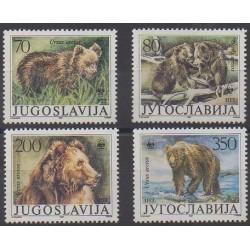 Yougoslavie - 1988 - No 2141/2144 - Mammifères - Espèces menacées - WWF