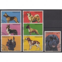 Paraguay - 1986 - Nb 2244/2250 - Dogs - Used