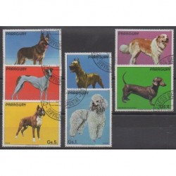 Paraguay - 1984 - Nb 2063/2069 - Dogs - Used