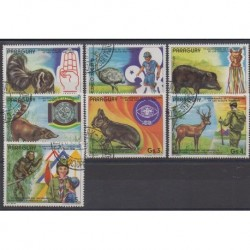 Paraguay - 1982 - Nb 1926/1932 - Scouts - Animals - Used