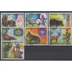 Paraguay - 1982 - No 1926/1932 - Scoutisme - Animaux - Oblitérés