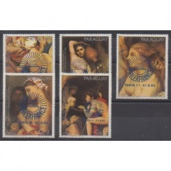 Paraguay - 1982 - Nb 1933/1937 - Paintings - Philately