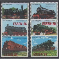 Paraguay - 1986 - Nb 2201/2206 - Trains - Philately