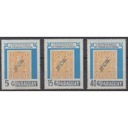 Paraguay - 1986 - Nb 2251/2253 - Stamps on stamps