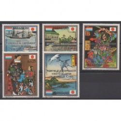 Paraguay - 1989 - Nb 2390/2394 - Various Historics Themes